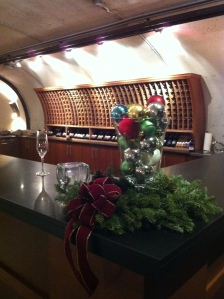 The private tasting room for wine club members.