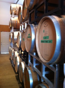 The cellar at Camelot Vineyards Estate Winery