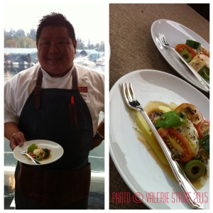 Chef Alex Tung poses with his harvest inspiration