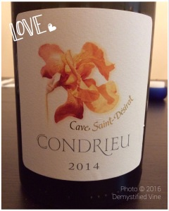 McInerney inspired me to try Condrieu!